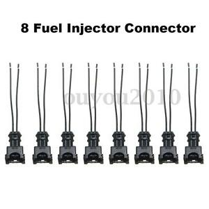 8 Fuel Injector Connector Wiring Plugs Clips Fit EV1 OBD1 Pigtail Cut /& Splice