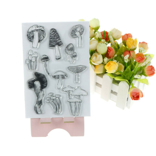 Mushroom Transparent Silicone Clear Stamps Seals for Scrapbookings Album Deco HL