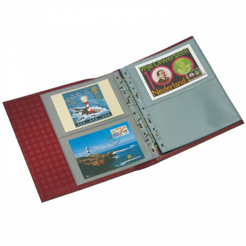 Red Collection Album OPTIMA Stamp Currency Postcard Collection LEUCHTTURM 318816