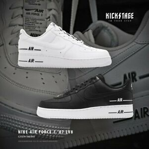 Details about Nike Mens Air Force 1 07 LV8 3 Double Air White Black AF1  Sneakers CJ1379