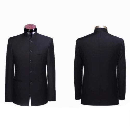 Men/'s traditionnelle chinoise col à boutonnage simple Tunique Costume Manteau Vestes Tops