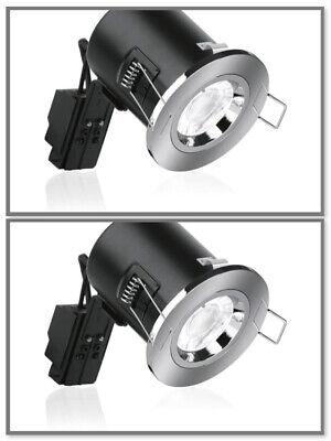 LumiLife GU10 IP54 Downlight fitting Chrome BNIB Fire Rated 30//60//90 minute