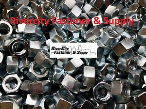 """(10) 5/8-11 Left Hand Thread Hex Nuts 5/8"""" x 11 With 15/16 Hex / Reverse Thread"""
