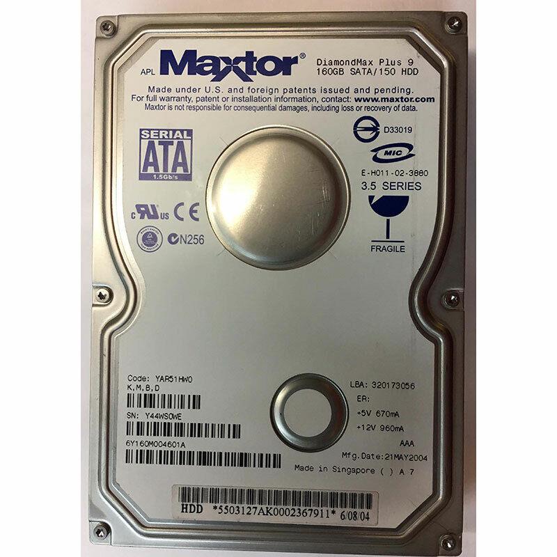 SATA Maxtor 6Y160M004725L 160GB 7200RPM Internal Hard Drive