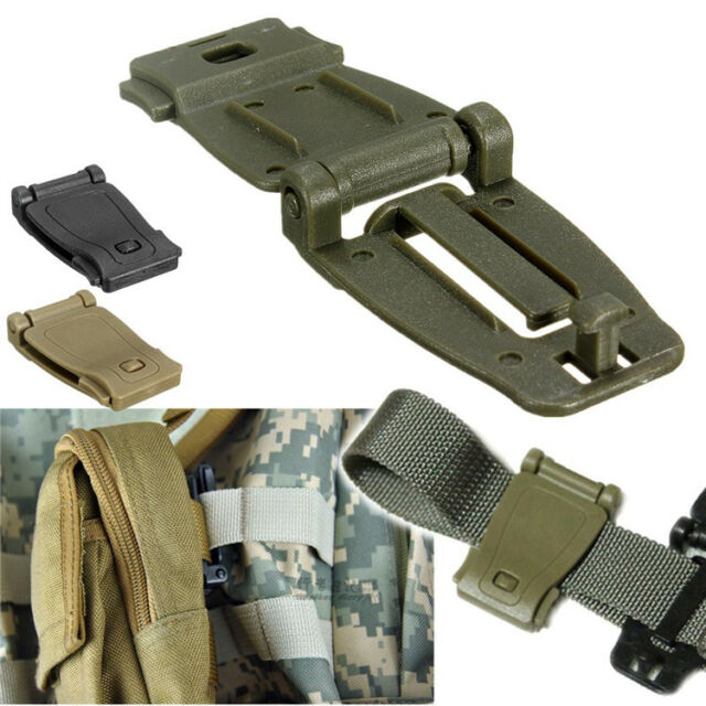 MOLLE Strap Backpack Bag Webbing Connecting Buckle Clip 26mm Black/Tan/Green
