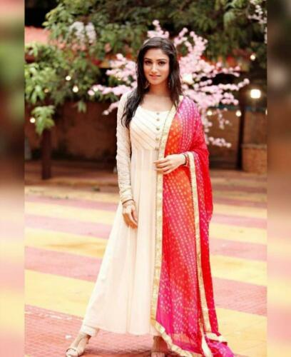 Indian pakistani kurta dress With dupatta pant Flared Top Tunic Set blouse-ft10