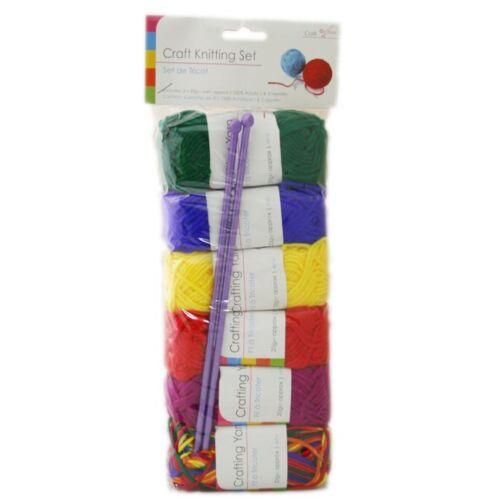 Craft Knitting Kit avec aiguilles ~ 6 multi Couleur Tricoter