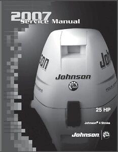 johnson 25 hp 4 stroke outboard motor service repair manual cd ebay rh ebay com 1999 johnson 25 hp outboard manual johnson 25 hp outboard parts
