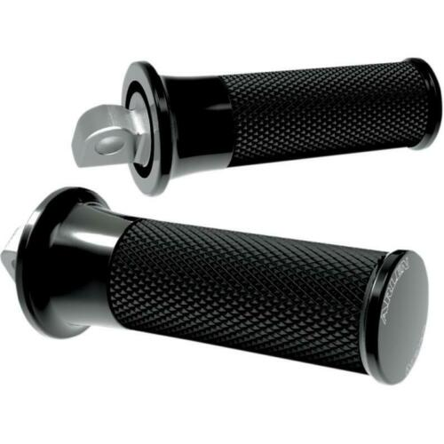 Arlen Ness Smooth Black Fusion Male Mount Foot Pegs for Harley or Metric