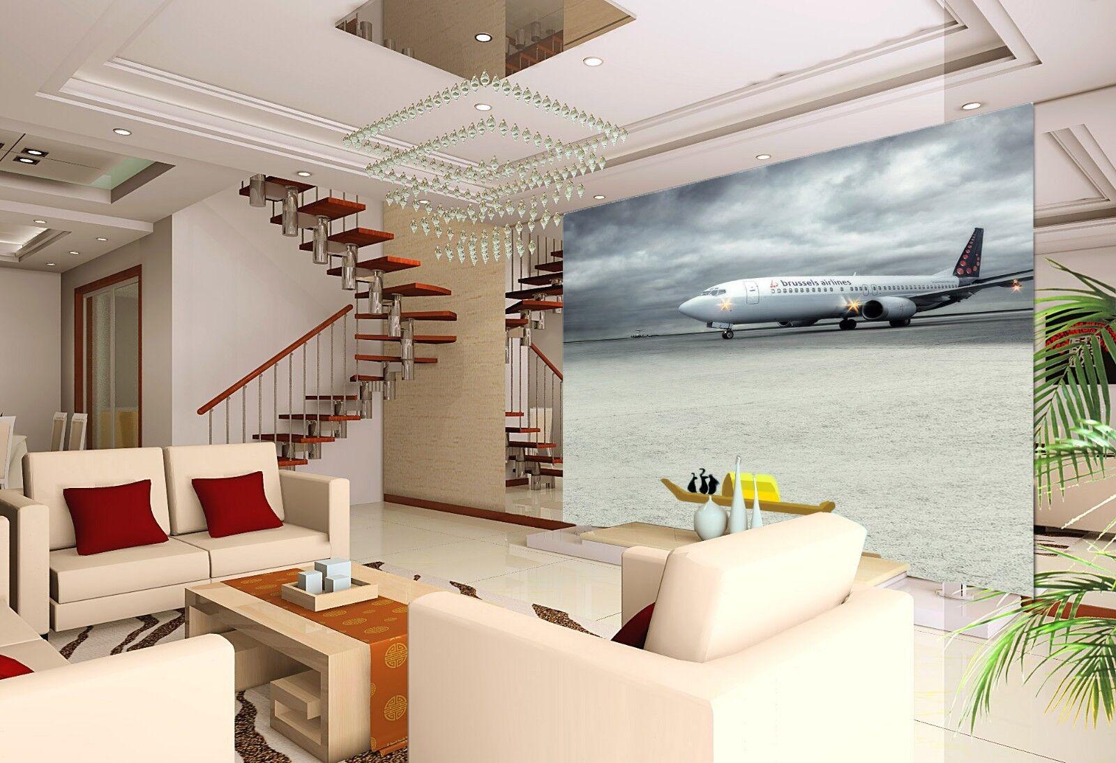 3D Aircraft 4336 Wallpaper Murals Wall Print Wallpaper Mural AJ WALL UK Lemon