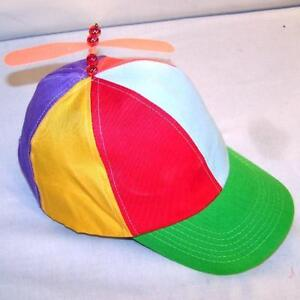 Image is loading 6-KIDS-SIZE-SPINNING-PROPELLER-HAT-new-novelty- 6b55daa28dd