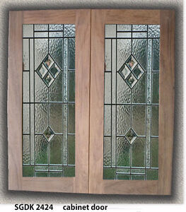 Genuine Leaded Glass Inserts For Kitchen Cabinet Doors We Make All Sizes Ebay