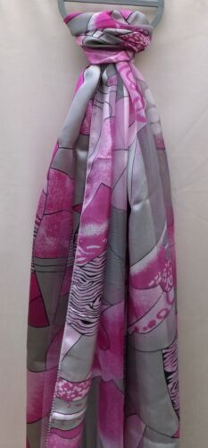 VARIOUS COLOURS BEAUTIFUL LADIES ABSTRACT PRINT SATIN FEEL FASHION SCARF