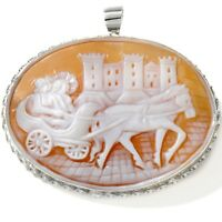 Cameo Pin/pendant M+m Scognamiglio Sardonyx Sterling Silver Maschio Angioino