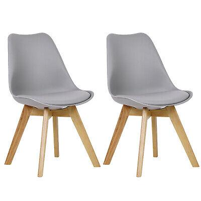 WOLTU/® 4er Set Esszimmerst/ühle K/üchenstuhl Design Stuhl Esszimmerstuhl mit Lehne Kunststoff Holz Grau BH37gr-4