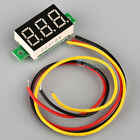 Mini DC 0.1-30V LED Panel Voltage Meter 3-Digital Display Voltmeter Motorcycle