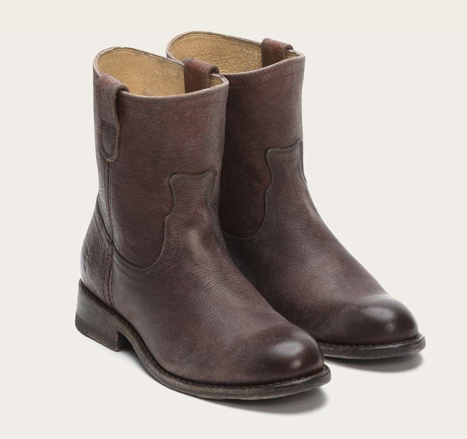 Frye Jayden Roper Zapatos botas al tobillo cuero envejecido envejecido envejecido marrón oscuro 76585 Nuevo  348  promociones de descuento