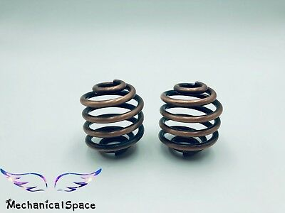 Motorcycle Custom Pair Solo Seat 3 Inch Springs Chrome Bobber Harley Hardtail