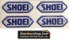4 x Gel Type Non Fade Pair SHOEI Blue Motorcycle Helmet Visor sticker