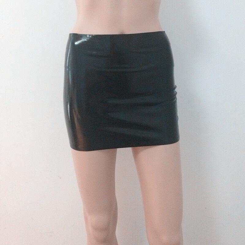 Sexy Latex Mini Skirts Women Rubber Dress Night Club Wear Gummi 0.4mm