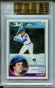 1983 Topps Baseball #83 Ryne Sandberg Rookie Card Graded BGS Gem Mint 9.5 w 10s