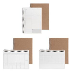 Planner-Book-Monthly-Weekly-Daily-Agenda-Schedule-Blank-Diary-DIY-Study-Notebook