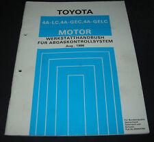 Werkstatthandbuch Motor 4A-LC Abgaskontollsystem Toyota Corolla MR II Carina II