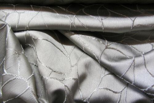 Silver Webb Faux Silk Curtain//Craft Fabric