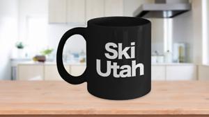 Ski-Utah-Mug-Black-Coffee-Cup-Funny-Gift-Skier-Patrol-Bunny-Bum-Skys-Park-City