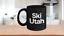 Ski-Utah-Mug-Black-Coffee-Cup-Funny-Gift-Skier-Patrol-Bunny-Bum-Skys-Park-City miniature 1