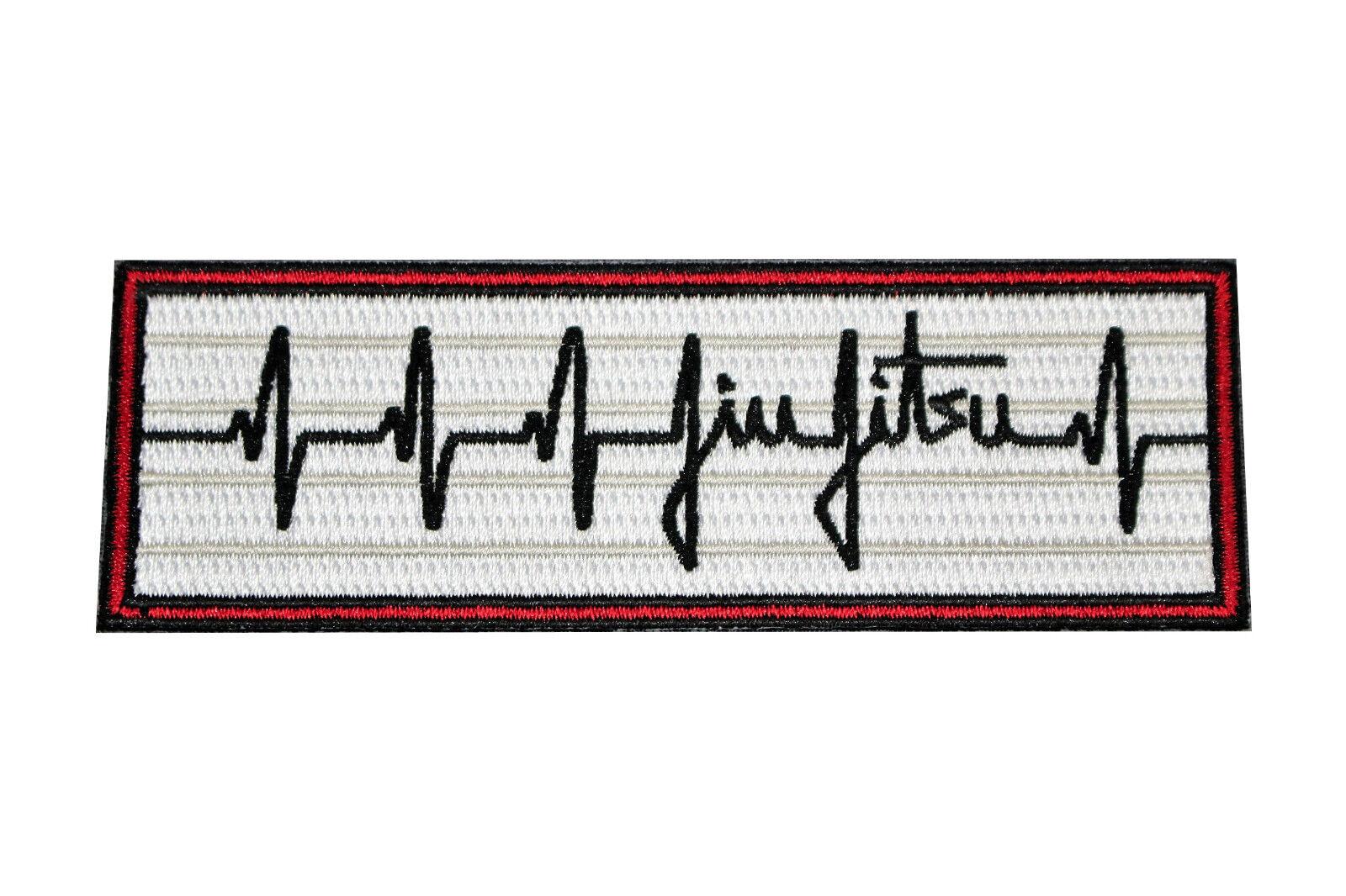 BJJ PATCH LOT - (10) Jiu Jitsu Gi Patches HEARTBEAT PULSE JitsisLife Iron-on