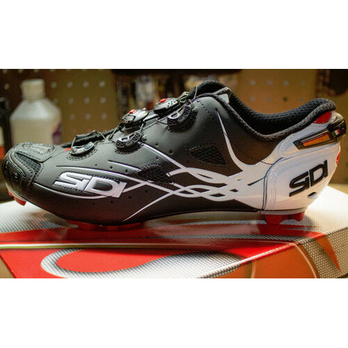 Nuevo SIDI TIGER Matt Carbono Mountain Bicicleta de Montaña Ciclismo Zapatos Mate Negro blancoo EU41-46