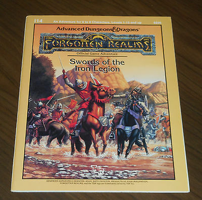 Ad&d I14 Swords Of The Iron Legion Lvl 1-15 Tsr 1988 Dungeons & Dragons As New Promuovi La Produzione Di Fluidi Corporei E Saliva