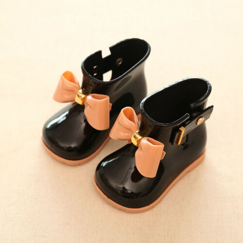 Girls Kids Children Lovely Bowknot Wellingtong Boots Wellies  Rain Boots Shoes