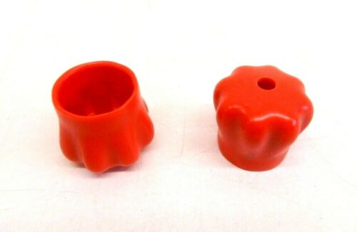 """Rubber Round End Cap Cover for Pipe Plastic Tube Hub Caps Tubing 1/"""" Red Vinyl"""