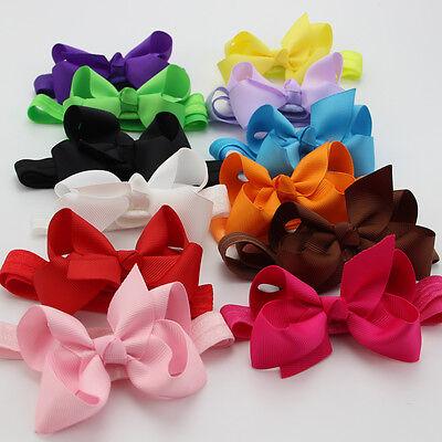 12pcs Baby Girl Toddler Hairband Elastic Headband Hair Bow Band Hair Accessories