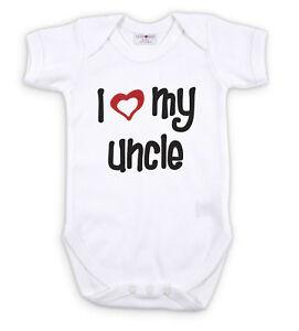 I Love My Uncle Baby Grow Bodysuit 0 24mths Ebay