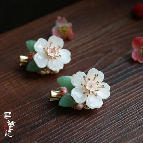 Sakura Hairpin Hair Clip Hair Comb Charm Vintage for Hanfu Kimono Cheongsam XZ
