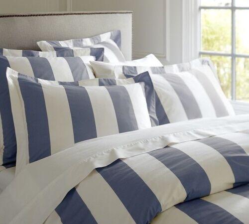 Hamptons Doona Duvet King Quilt Cover Set Blue And White 245 x 210 cm