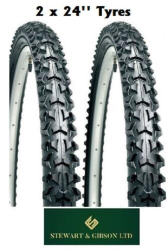 "2 x Bicycle Tyres Bike Mountain BMX Off Road 24"" inch High Quality"