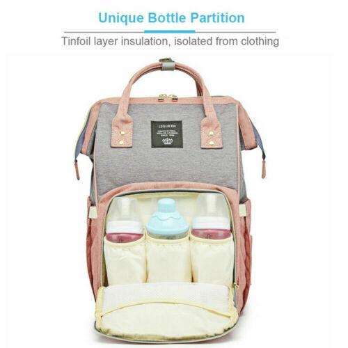 LEQUEEN Baby Diaper Bag Waterproof Backpack Mummy Maternity Nappy Large Capacity