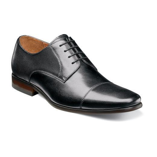Florsheim Mens shoes Postino Cap Toe Oxford leather Black 15149-001