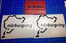 2x Stickers Nurburgring autocollant decals circuit auto - Couleurs au choix