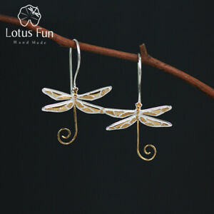 Unique-Multi-Color-Big-Dragonfly-Drop-Earrings-Solid-925-Silver-Jewelry-Women