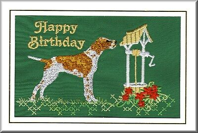 German Shorthaired Pointer Rainbow Bridge Card Embroidered by Dogmania