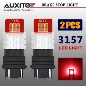 AUXITO 2X 3157 3156 LED Brake Light Tail Stop Light Bulb