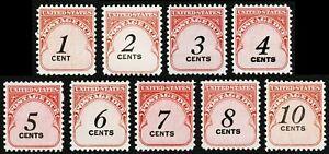 #J89-J97 1c-10c Envío Impuestos, Timbre Nh Og Cualquier 5=