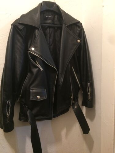 RAIINE STATEMENT REAL LEATHER  BIKER JACKET
