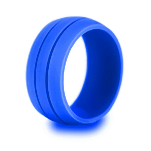 Silicone Wedding Ring Men Women Rubber Engagement Band Flexible Outdoor Sport