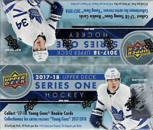 2017-18-Upper-Deck-Series-1-sealed-retail-box-24-packs-of-8-NHL-cards